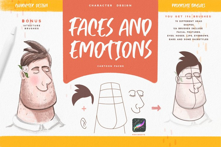 Faces & Emotions Procreate Brush example image 1