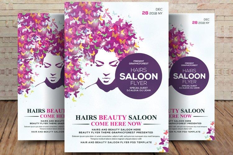 Hair Salon Flyer Template example image 1