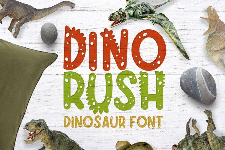 Dino rush - Dinosaur font example image 1