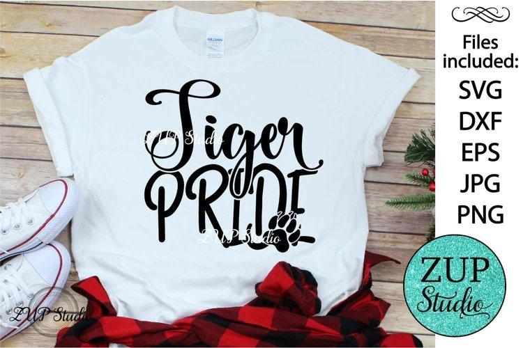 Tiger Pride text word art svg design 460