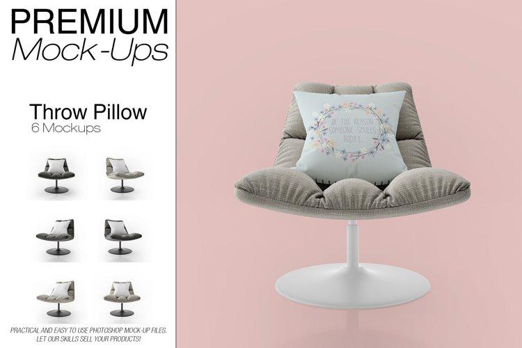 Throw Pillow Mockup Set example image 1