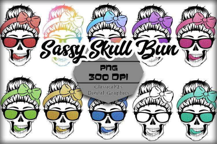 Sassy Skull Bun Clip Art