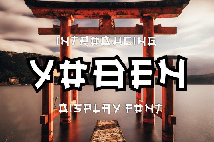 YOBEN-JAPANESE STYLE FONT example image 1