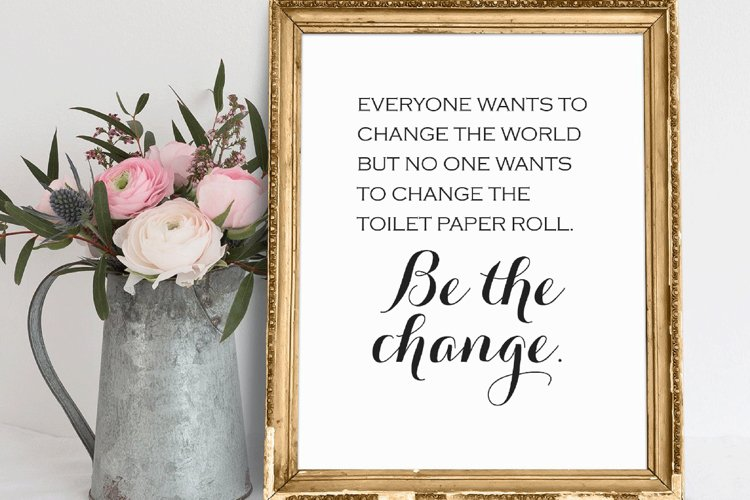 Funny Bathroom PRINTABLE Wall Art Bathroom Decor Bathroom example image 1