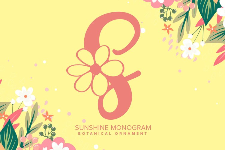 Sunshine Monogram Font example image 1