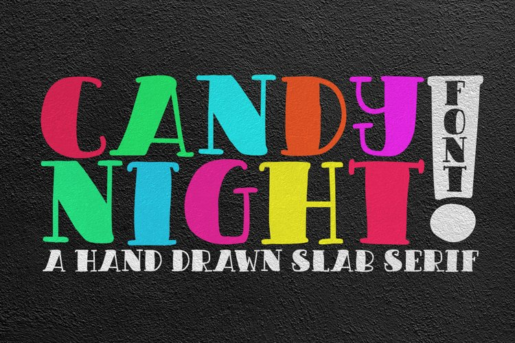 CANDY NIGHT FONT example image 1