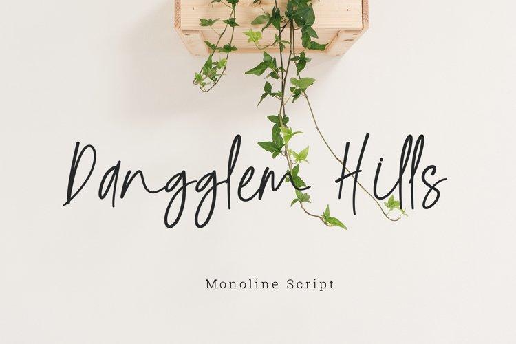 Dangglem Hills Font Script example image 1