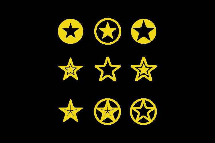 Collection Flat Big Star Design Vector Graphic example image 1