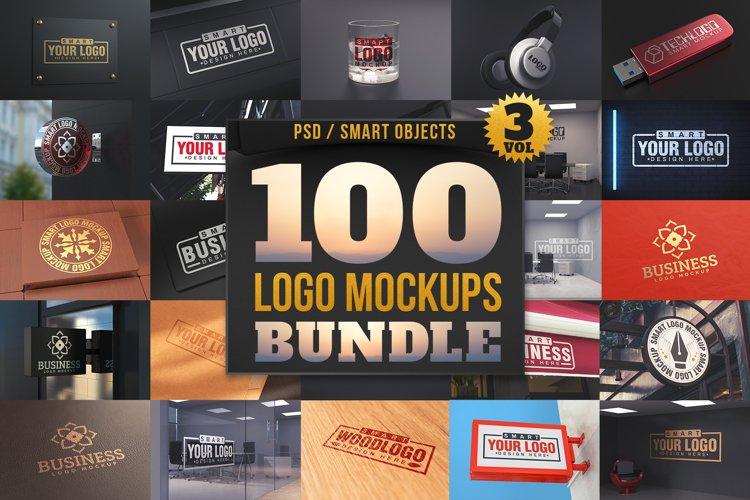 100 Logo Mockups Bundle Vol.3 example image 1