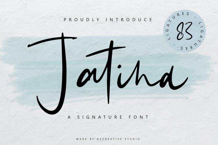 Jatina - Dynamic Signature Font example image 1