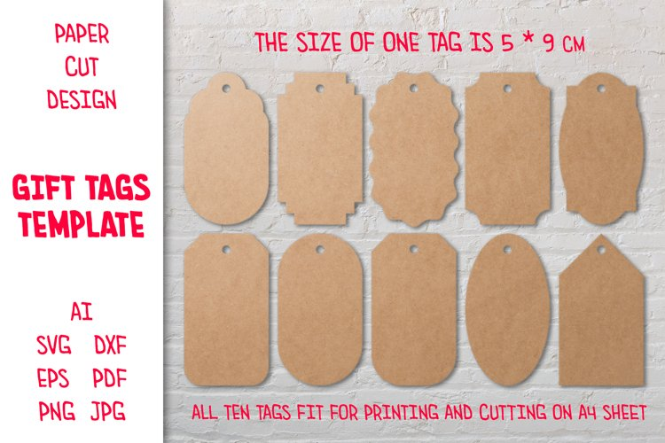 Paper Cut Tags Template. Gift Tags SVG. Sale Tags. Hang Tags