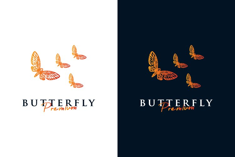 Butterfly logo premium vector example image 1