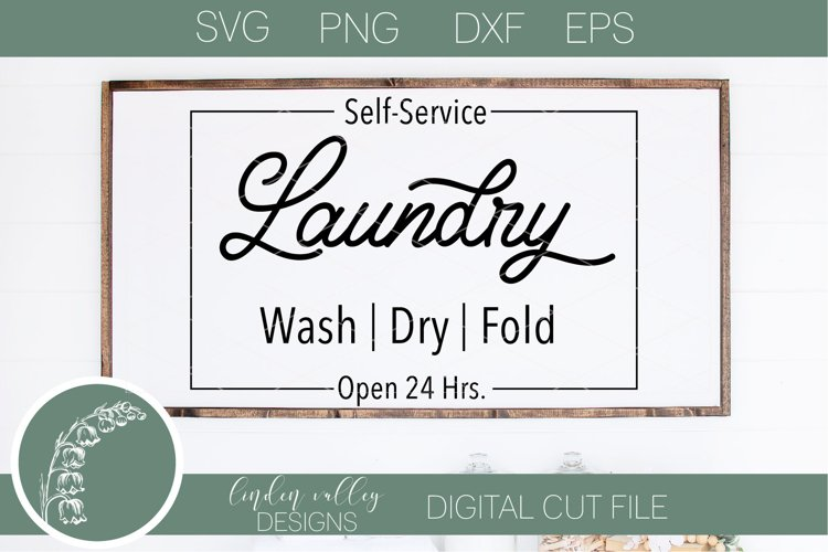 Self Service Laundary SVG|Laundary SVG|Farmhouse Laundary example image 1
