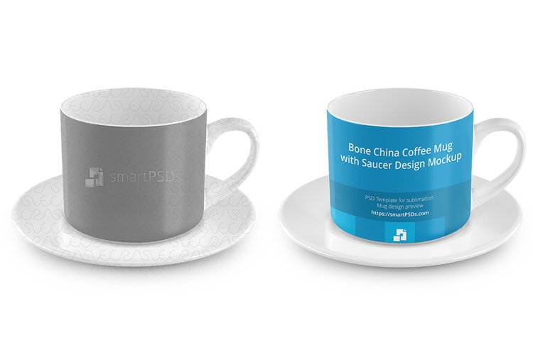 Coffee Cup with Saucer Design Mockup example image 1