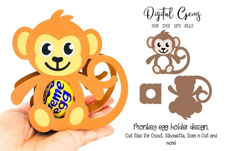 Monkey egg holder design SVG / DXF / EPS files example image 1