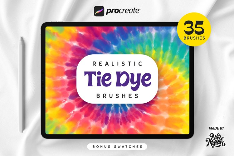 Procreate Realistic Tie Dye Brushes