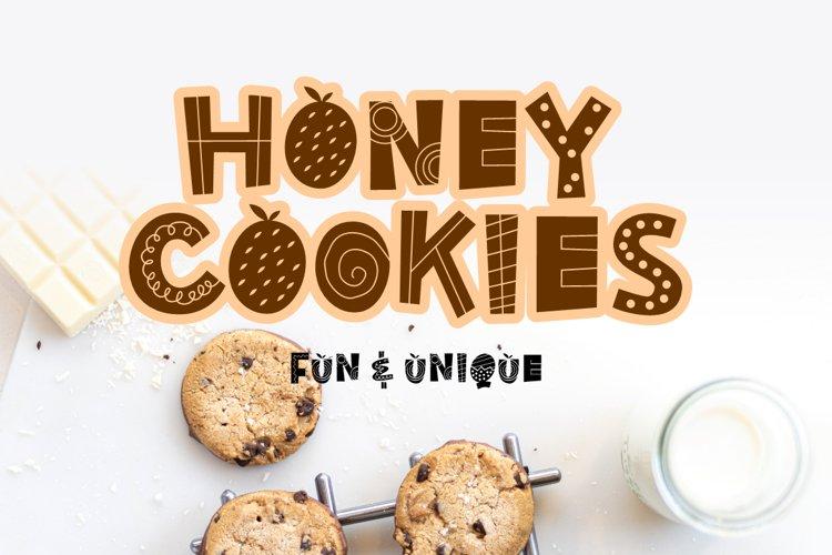 Honey Cookies - fun & uniqe font