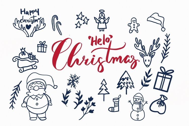 Helo Christmas clipart example image 1