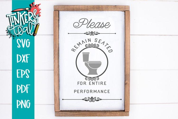 Remain Seated Bathroom funny Farmhouse SVG example image 1