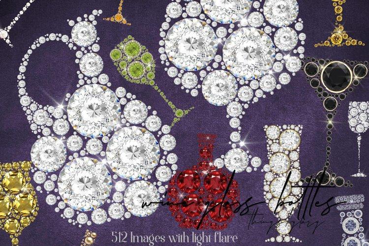 512 Diamond Pearl Gemstone Wine Glass Wine Bottle Champage
