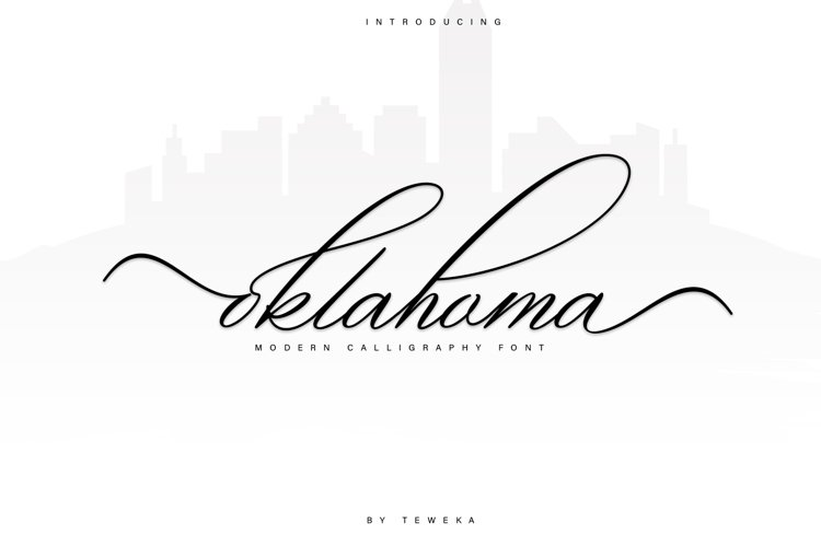 oklahoma calligraphy font example image 1