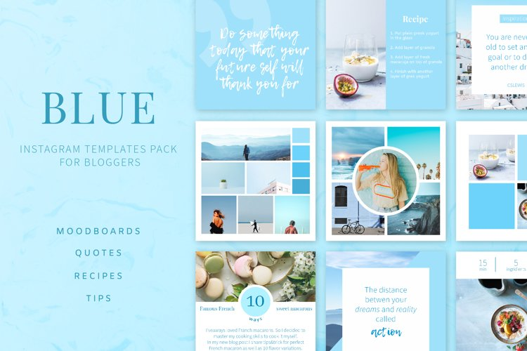 Blue | Instagram templates pack example image 1