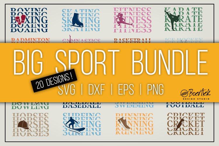 Big sport bundle, 20 cut files