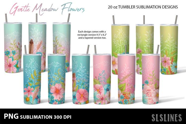Skinny Tumbler Sublimation - Gentle Meadow Flowers