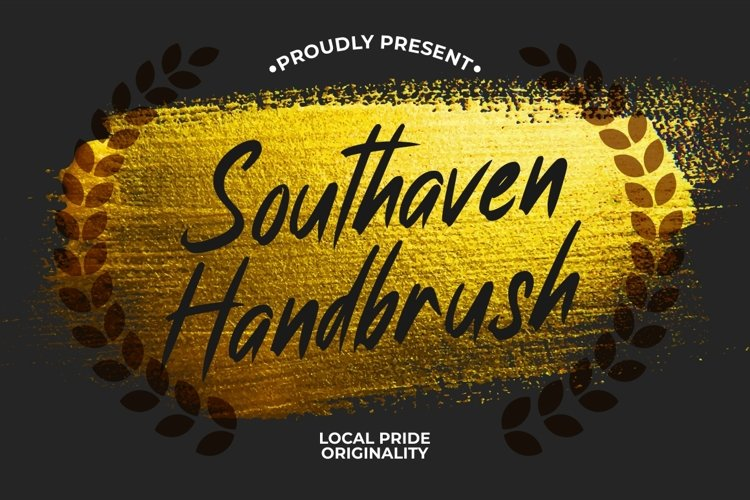 Southaven - Natural Brush Font example image 1