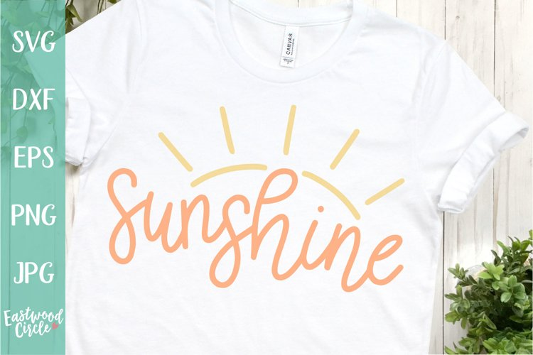Sunshine - A Hand Lettered Beach SVG Cut File example image 1