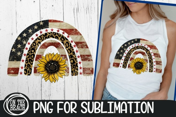AMERICA - Rainbow - Sunflower - Leopard - PNG Sublimation