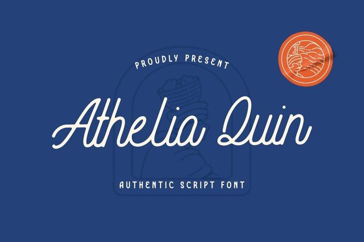 Web Font Athelia Quin Font example image 1