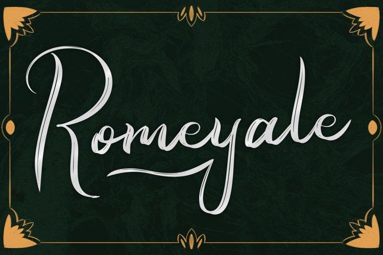 Romeyale | Web Font example image 1