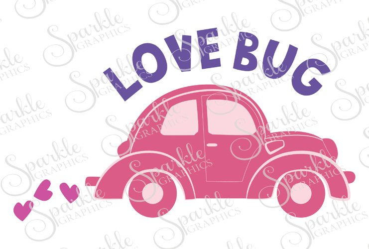 Love Bug Cut File  | SVG, EPS, DXF, PNG example image 1