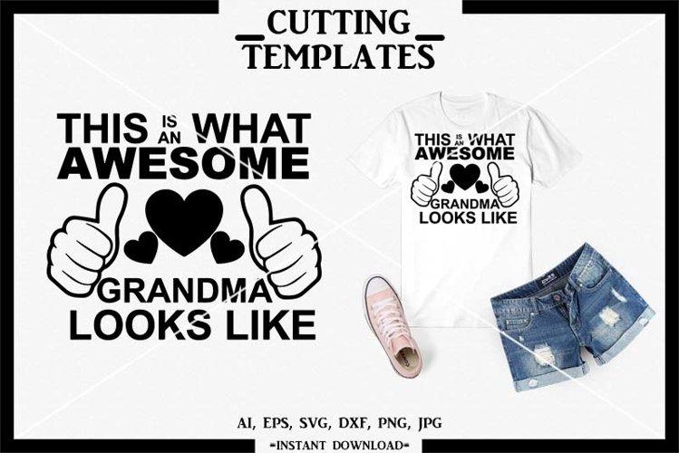 Grandma SVG, Grandparents, Silhouette, Cricut, Cameo, SVG