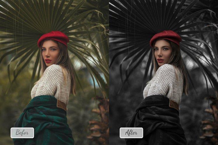 8 Pro Dark Photoshop Action, ACR and LUT Presets example image 1