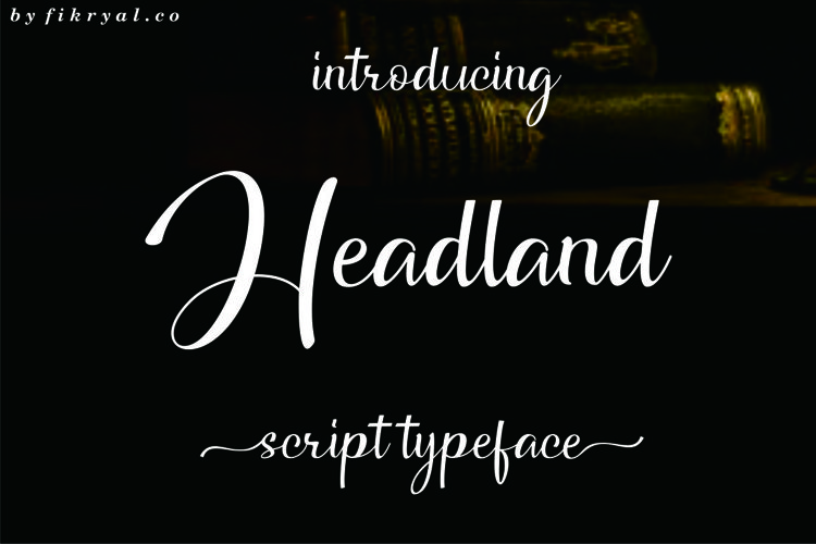 Headland // Script typeface example image 1