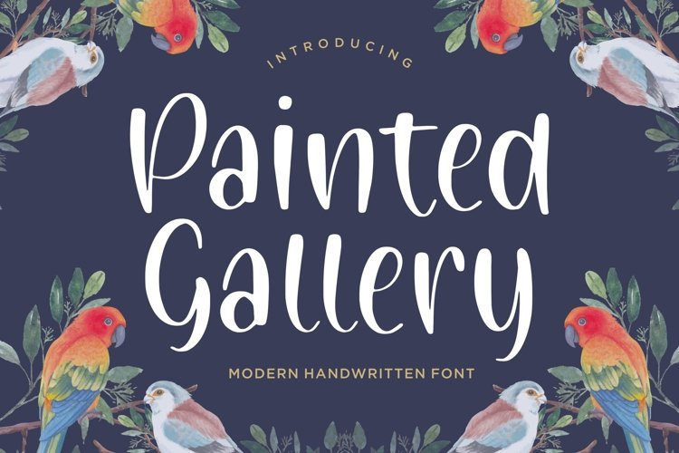 Painted Gallery Modern Handwritten Font example image 1