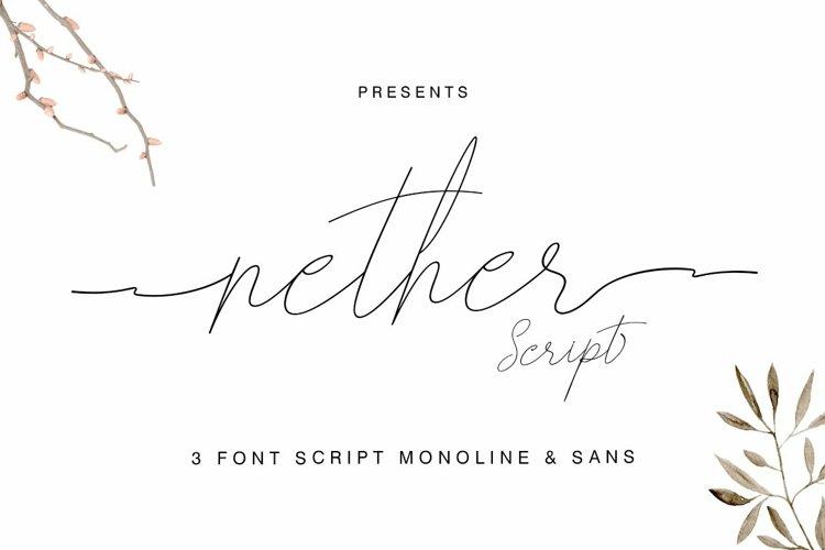 Web Font Nether Font Trio Script & Sans example image 1
