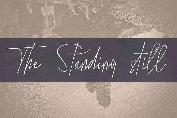 the standing still