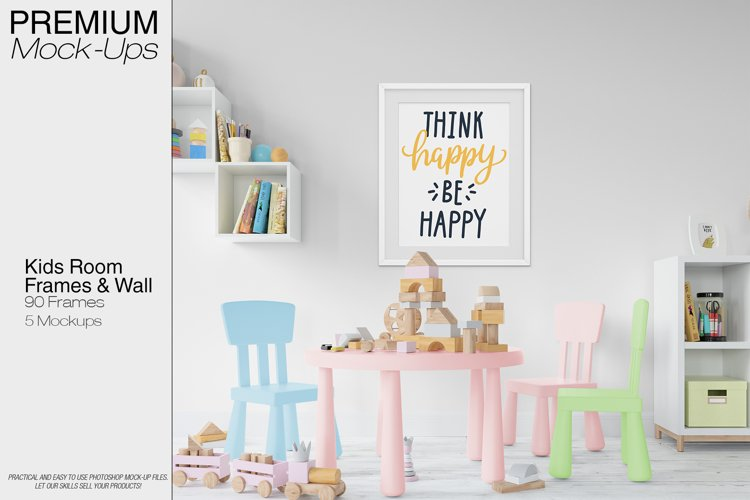 Kids Room - Wall & 90 Custom Frames example image 1
