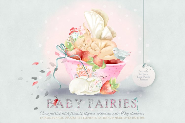 Baby Fairies Clipart Collection example image 1