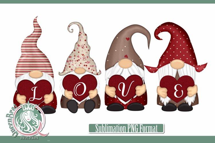 Sublimation   Valentine Glitter Gnome 1