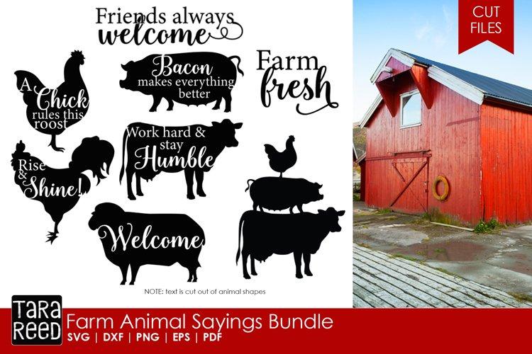 Farm Animal Saying Bundle example image 1