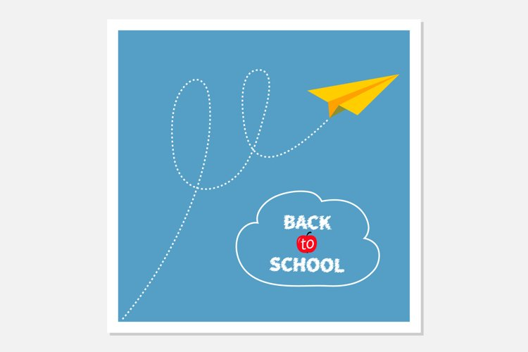 Origami paper plane. Back to school example image 1