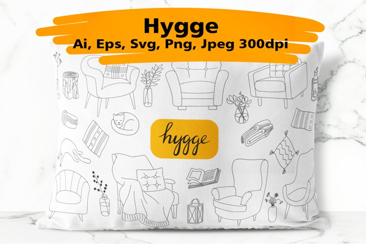 Hygge hand drawn vector of cozy images example image 1