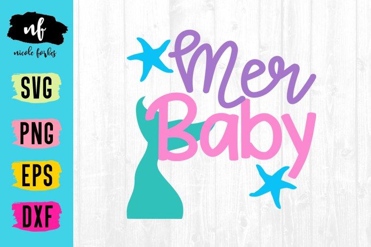 Mermaid Baby SVG Cut File example image 1