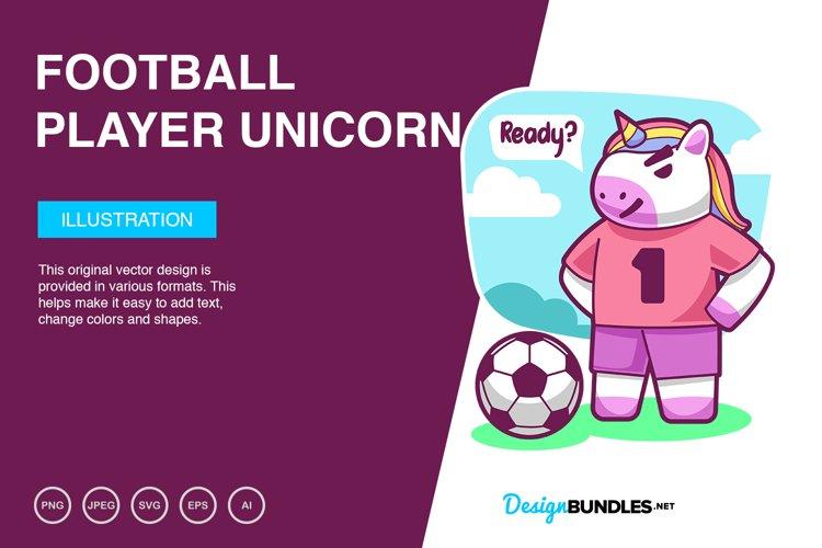 Football Player Unicorn Vector Illustration