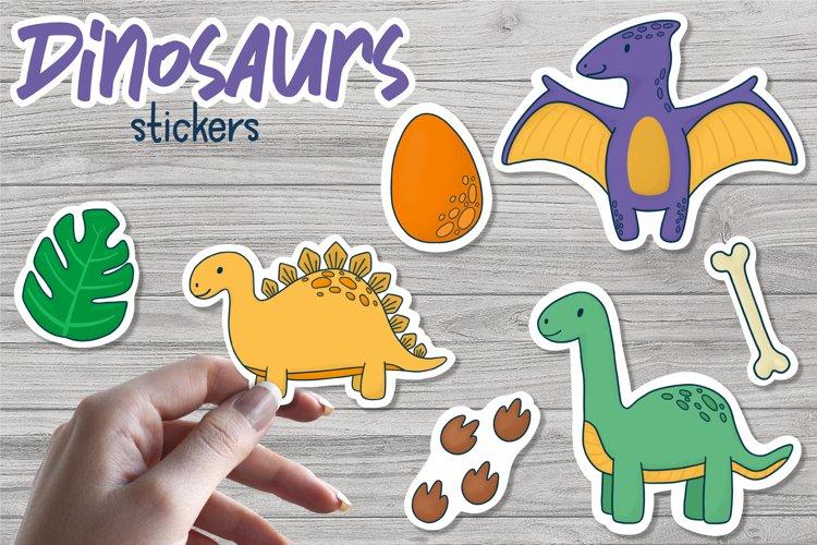 Dinosaurs - Printable Stickers