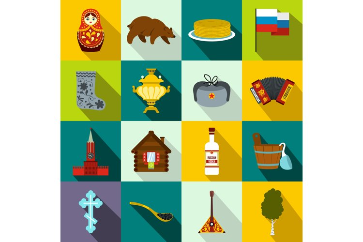 Russia flat icons example image 1